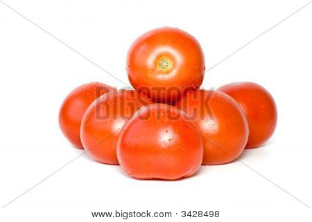 Pile Of Tomatoes With Waterdrops