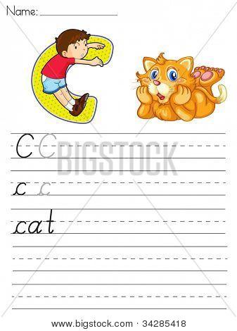 Hoja del alfabeto de la letra C