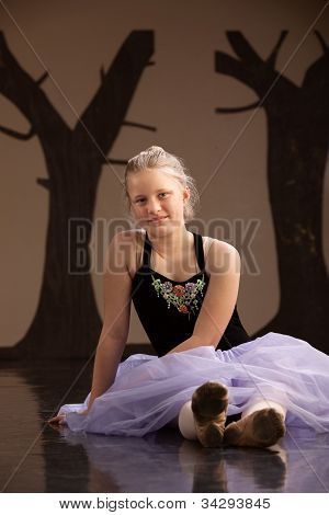 Teen In Ballet Dress