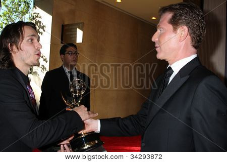 LOS ANGELES - JUN 23:  Jonathan Jackson, Bobby Flay in the Press Room of the 2012 Daytime Emmy Awards at Beverly Hilton Hotel on June 23, 2012 in Beverly Hills, CA