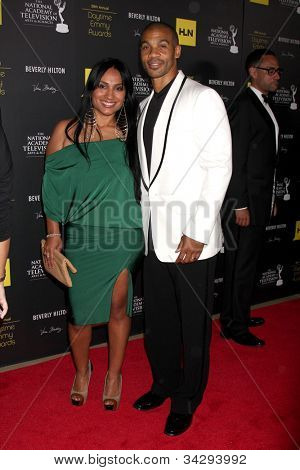 LOS ANGELES - JUN 23:  Aaron Spears arrives at the 2012 Daytime Emmy Awards at Beverly Hilton Hotel on June 23, 2012 in Beverly Hills, CA