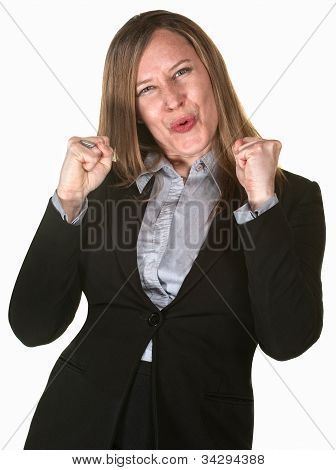 Excited Pretty Businesswoman