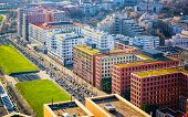Aerial View Modern Apartment Residential Building Architecture Potsdamer Platz Reflex poster