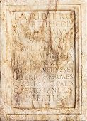 Commemorative Inscription On Marble, Of Festivities In The House Of The Quinto Sertorio.  16 Th Cent poster