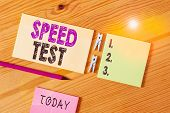Conceptual Hand Writing Showing Speed Test. Business Photo Text Psychological Test For The Maximum S poster