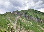 Alpine Mountain Turner Above The Wagital Or Waegital Valley And Alpine Lake Wagitalersee (waegitaler poster