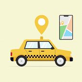Online Taxi Service Flat, Online Taxi Service Design, Online Taxi Service Vector, Online Taxi Servic poster