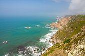 Portugal, The Western Cape Roca Of Europe, Landscape Of Cape Roca, Atlantic Ocean Coastline View Fro poster