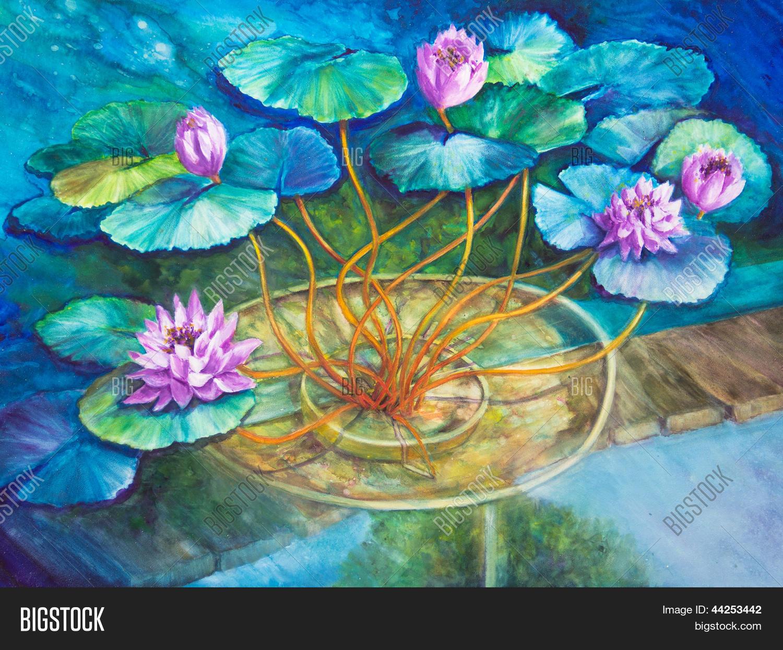 Imagen y foto agua de estanque de lirios en bigstock - Fotos de cuadros de monet ...