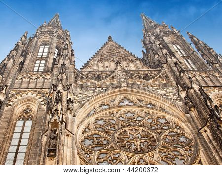 View Of St. Vitus Cathedral In Prague Castle, Czech Republic