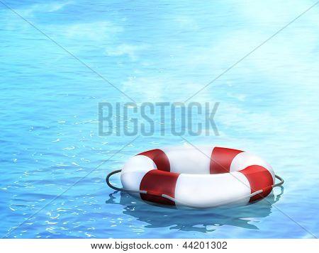 Bóias de vida, flutuando sobre as ondas