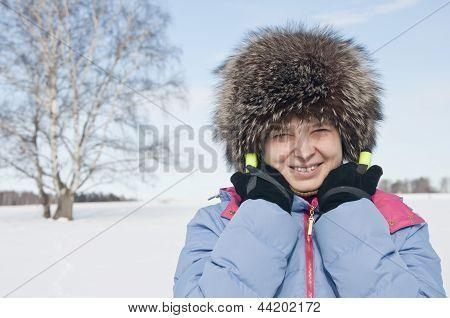 Woman Tourist Skier