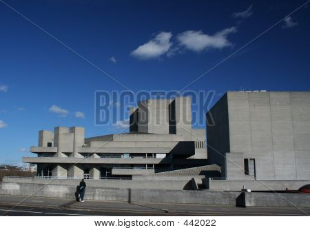 The Royal National Theatre Building In London
