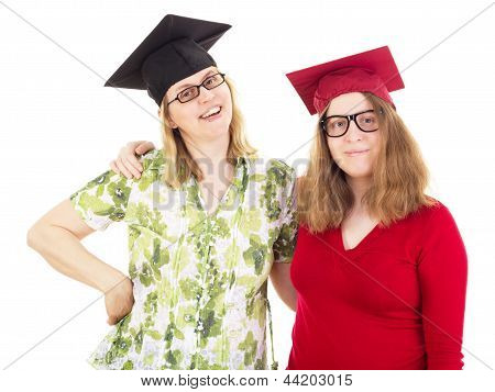 Two Happy Female Graduates