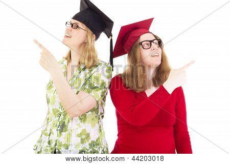Two Happy Female Graduates