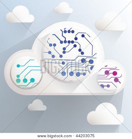 Cloud technology abstract image.