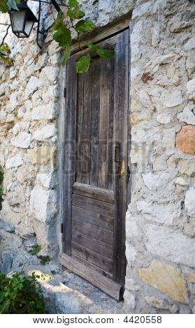 Old Wood Door In Eze