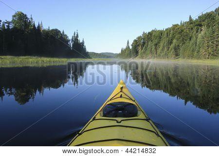 Kayak Surfer On A Lake