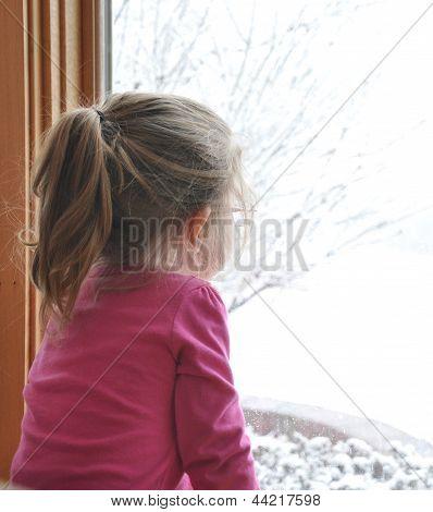 Kind Winter Fenster