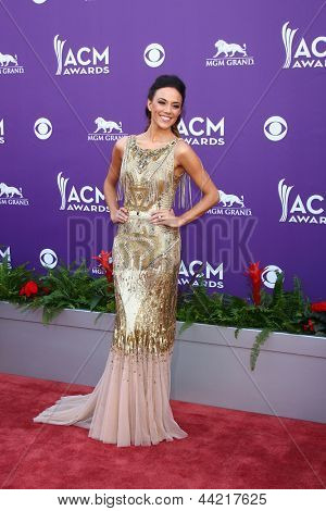 LAS VEGAS - MAR 7:  Jana Kramer arrives at the 2013 Academy of Country Music Awards at the MGM Grand Garden Arena on March 7, 2013 in Las Vegas, NV