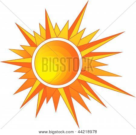 Sun With Sharp Rays