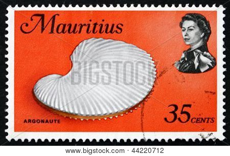 Postage Stamp Mauritius 1969 Argonaut Shell, Argonauta, Octopus