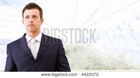 Mid-adult Businessman Indoors