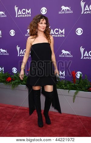 LAS VEGAS - MAR 7:  Shania Twain arrives at the 2013 Academy of Country Music Awards at the MGM Grand Garden Arena on March 7, 2013 in Las Vegas, NV