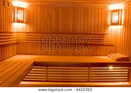 Sweating Room In Sauna