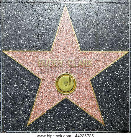Buddy estrela em Clark na Hollywood Walk Of Fame
