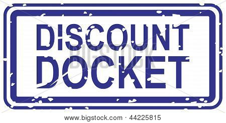 Discount Docket Rubber Stamp