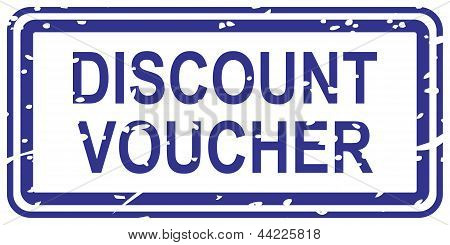 Discount Voucher Rubber Stamp