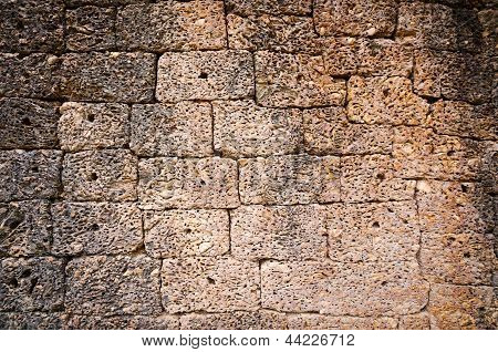 Ancient Stone Wall Surface