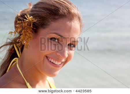 Bikini Woman Smiling