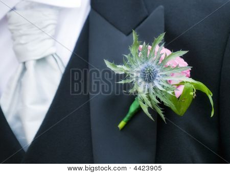 A Beautiful Buttonhole For A Scottish Wedding