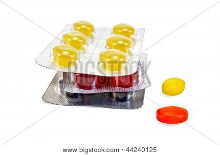 Lozenges Cough Multicolored Pile