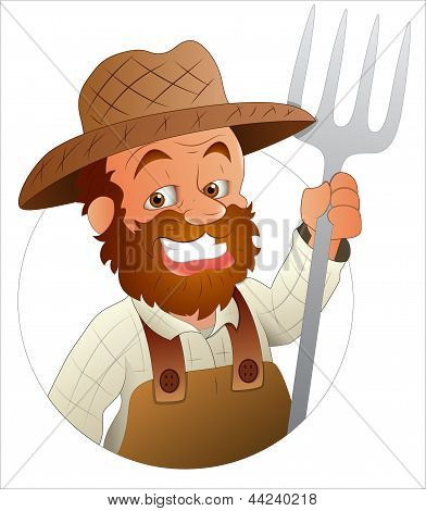 Farmer - Vector Character Illustration