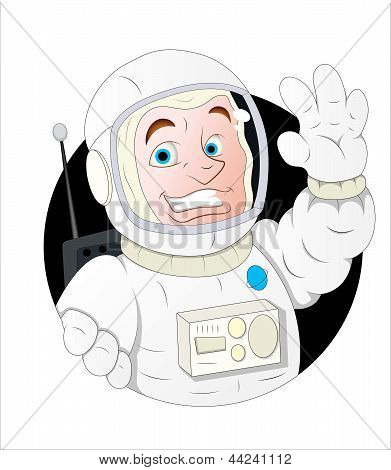 Cartoon Astronaut Character