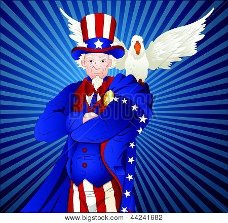 Uncle Sam with Bird