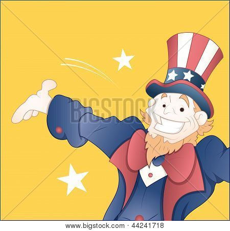 Happy Uncle Sam Vector