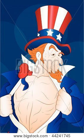 Illustration of Patriotic Uncle Sam