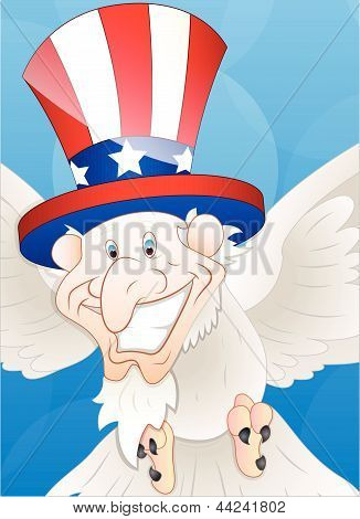Patriotic Sam Bird Vector