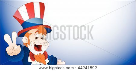 Happy Uncle Sam Vector Banner