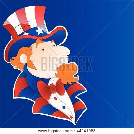 Uncle Sam Vector Sticker Art