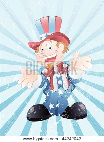 Uncle Sam Grunge Vector Art