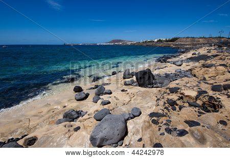 The Playa Blanca waterfront