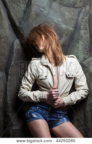 Girl Posing With Passion