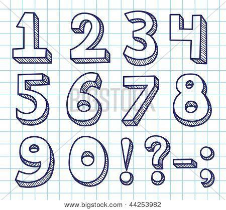 Scribble numbers.