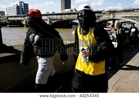 LONDON, SEPTEMBER 22: Great Gorilla Run to help save a species on the edge of extinction on September 22, 2012 in London.