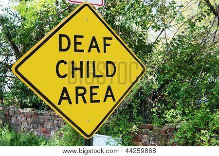 Deaf Child Traffic Sign